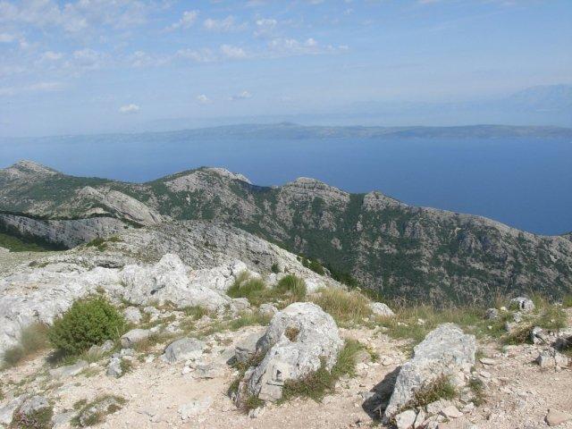 Pogled iz vrha proti Hvaru