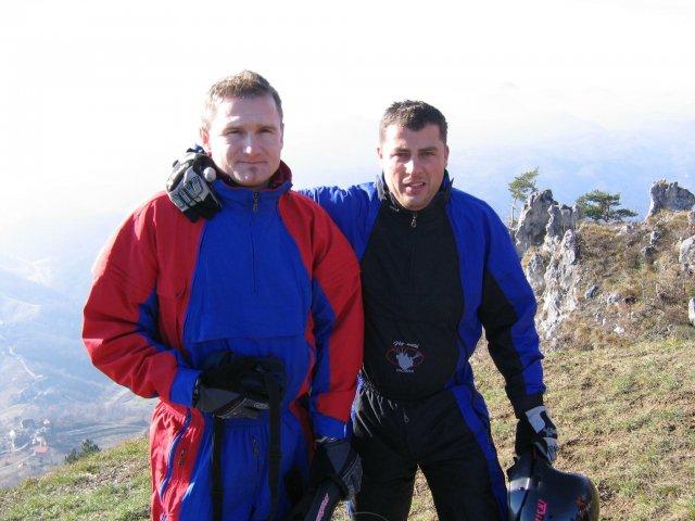 Ivo in Bojan na Ravni Gori