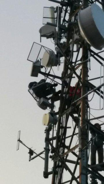 Namestitev AVP Malič med antenami