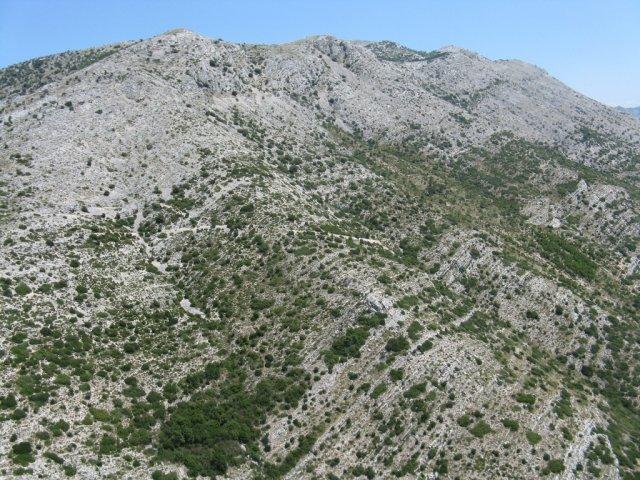 Pobočja pred Sv. Ilijo